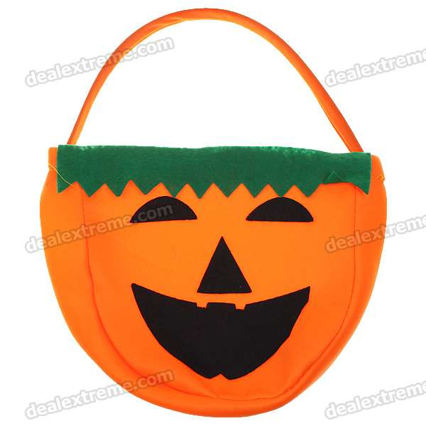 Halloween Lovely Pumpkin Figure Hand Bags (2-Pack)