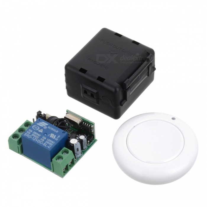 433MHZ Mini Portable Remote Controller w/ Switch Module for Garage Door Opener, Window, Lifting Device, Motor, Water Pump -WhiteTransmitters &amp; Receivers Module<br>Form  ColorBlue + WhiteModel433MHZQuantity1 pieceMaterialABSFrequency433MHzWorking Voltage   12 VWorking Current10 AEffective Range50-100mEnglish Manual / SpecNoDownload Link   http://a3.qpic.cn/psb?/V110RK7y0wIonC/5WZNpwhNqLip6sxPDAnKaCpEhvNSQG6WG*k0SiDXzdE!/b/dPIAAAAAAAAA&amp;bo=7gIvAgAAAAARB*E!&amp;rf=viewer_4Packing List1 x Controller (2016 battery 2)1 x Module<br>