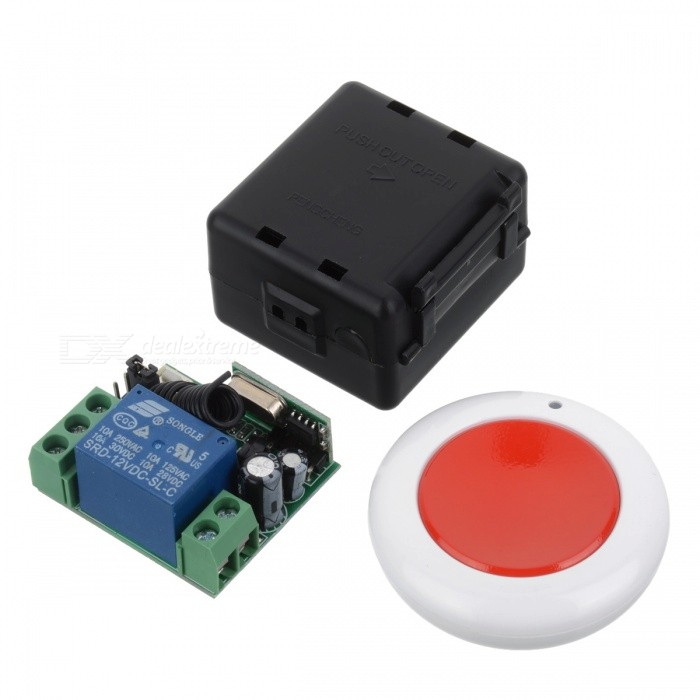 433MHZ Mini Portable Remote Controller w/ Switch Module for Garage Door Opener, Window, Lifting Device, Motor, Water Pump - RedTransmitters &amp; Receivers Module<br>Form  ColorWine Red + WhiteModel433MHZQuantity1 pieceMaterialABSFrequency433mhzWorking Voltage   12 VWorking Current10 AEffective Range100MEnglish Manual / SpecNoDownload Link   http://a3.qpic.cn/psb?/V110RK7y0wIonC/5WZNpwhNqLip6sxPDAnKaCpEhvNSQG6WG*k0SiDXzdE!/b/dPIAAAAAAAAA&amp;bo=7gIvAgAAAAARB*E!&amp;rf=viewer_4Packing List1 x Controller (2016 battery 2)1 x Module<br>
