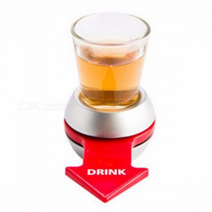 Drinking game spin the shot glass fun party gift turntable for Food bar drinking game