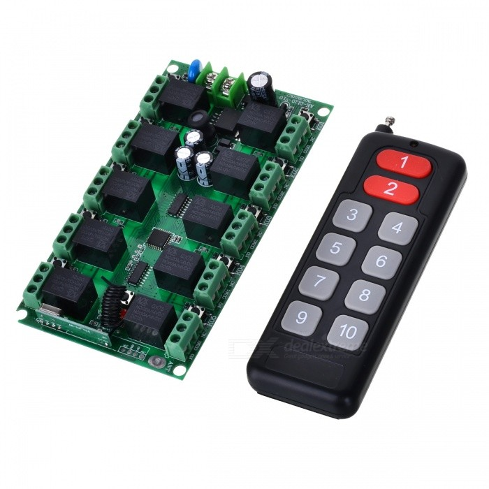 Portable Remote Controller w/ Switch Module for 12V Lamps, Electric Door, Windows, Lifting equipment, Gateway ControlTransmitters &amp; Receivers Module<br>Form  ColorBlack + RedModelLZ-12Quantity1 pieceMaterialABS-PCBFrequency433MHZWorking Voltage   DC12 VWorking Current10 AEffective Range200-1000MEnglish Manual / SpecNoDownload Link   NOPacking List1 x Controller (27A Not worth it)1 x Module<br>