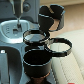 Auto Car Organizer Car Phone Holder Sunglasses Drink Cup Holder for Coins Keys Phone Stand Interior Accessories Black
