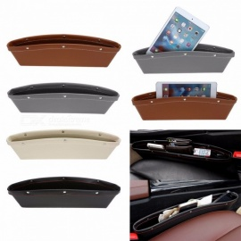 Creative Auto Car Car Seat Gap Pocket Catcher Storage Box PU Leather Organizer Leak-Proof Storage Box Car Trunk Bag Container Black