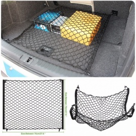 Car Trunk 4 Hooks Cargo Net Elastic Storage Net Car Accessories for Audi Q2 Q3 Q5 Q7 A3 A4 B7 B8 B9 S4 A5 A6 A7 A8 long 90 cm