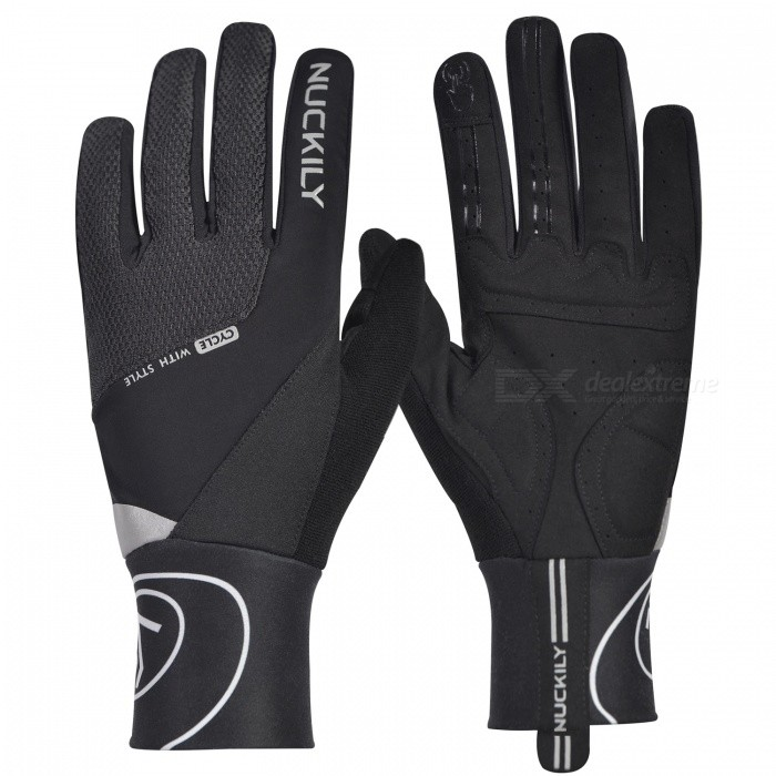 NUCKILY PD05 Winter Unisex Shockproof Screen Touch Long Full Finger Gloves for Outdoor Sport Bicycle Cycling - Black (XXL)Gloves<br>Form  ColorBlackSizeXXLModelPD05Quantity1 setMaterial40% polyester 40% Nylon 20% PUTypeFull-Finger GlovesSuitable forAdultsGenderUnisexPalm Girth11.5 cmGlove Length27.5 cmBest UseCycling,Mountain Cycling,Recreational Cycling,Road Cycling,Triathlon,Bike commuting &amp; touringPacking List1 x Pair of gloves<br>
