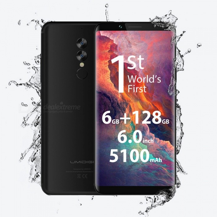 "UMIDIGI S2 Pro 6.0"" 18:9 Octa-core 4G Phone with 6GB RAM, 128GB ROM - Black"