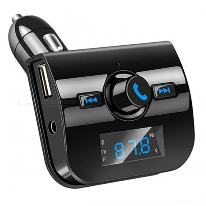 XK760 Car Bluetooth MP3 Music Player  -  BLACKBluetooth Car Kits<br>Form  ColorBlackModelXK760Quantity1 pieceMaterialABSScreen Size1.1 inchFunctionOthers,with voice calls and other voice prompts,automatic power off memory function. Bluetooth hands-free function, full-duplex Bluetooth call, DSP cancellation and noise reduction function.Compatible CellphoneOthers,IPHONE , Motorola ,  LG , Sumsang etcVoice Prompt LanguageOtherBluetooth VersionBluetooth V4.0Transmit Distance10 mCharging Voltage12 VInterface/PortOthers,USBPacking List1 x Bluetooth Music Player<br>