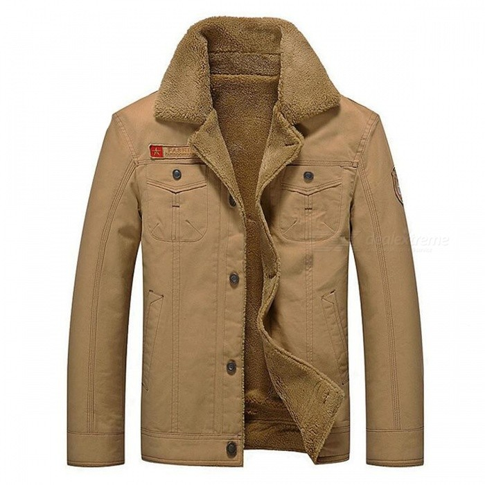 CTSmart YM608 Mens Fashion Long Sleeves Warm Jacket Coat for Autumn Winter - Khaki (2XL)Jackets and Coats<br>Form  ColorKhakiSizeXXLModelYM608Quantity1 DX.PCM.Model.AttributeModel.UnitShade Of ColorBrownMaterialCotton blend and polyesterStyleFashionTop FlyZipperShoulder Width49.5 DX.PCM.Model.AttributeModel.UnitChest Girth59 DX.PCM.Model.AttributeModel.UnitWaist Girth59 DX.PCM.Model.AttributeModel.UnitSleeve Length65.5 DX.PCM.Model.AttributeModel.UnitTotal Length72 DX.PCM.Model.AttributeModel.UnitSuitable for Height180 DX.PCM.Model.AttributeModel.UnitPacking List1 x Coat<br>