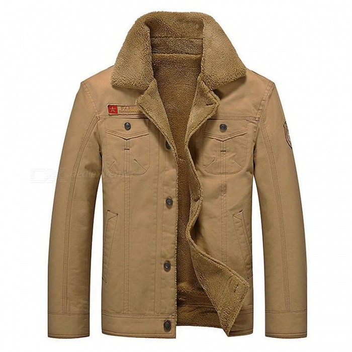 CTSmart YM608 Mens Fashion Long Sleeves Warm Jacket Coat for Autumn Winter - Khaki (4XL)Jackets and Coats<br>Form  ColorKhakiSize4XLModelYM608Quantity1 DX.PCM.Model.AttributeModel.UnitShade Of ColorBrownMaterialCotton blend and polyesterStyleFashionTop FlyZipperShoulder Width52.5 DX.PCM.Model.AttributeModel.UnitChest Girth63 DX.PCM.Model.AttributeModel.UnitWaist Girth63 DX.PCM.Model.AttributeModel.UnitSleeve Length67.5 DX.PCM.Model.AttributeModel.UnitTotal Length77 DX.PCM.Model.AttributeModel.UnitSuitable for Height185 DX.PCM.Model.AttributeModel.UnitPacking List1 x Coat<br>
