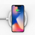 TOCHIC 10W Qi Fast Wireless Charger for IPHONE X / 8 / 8 Plus / Samsung / LG / Xiaomi - White