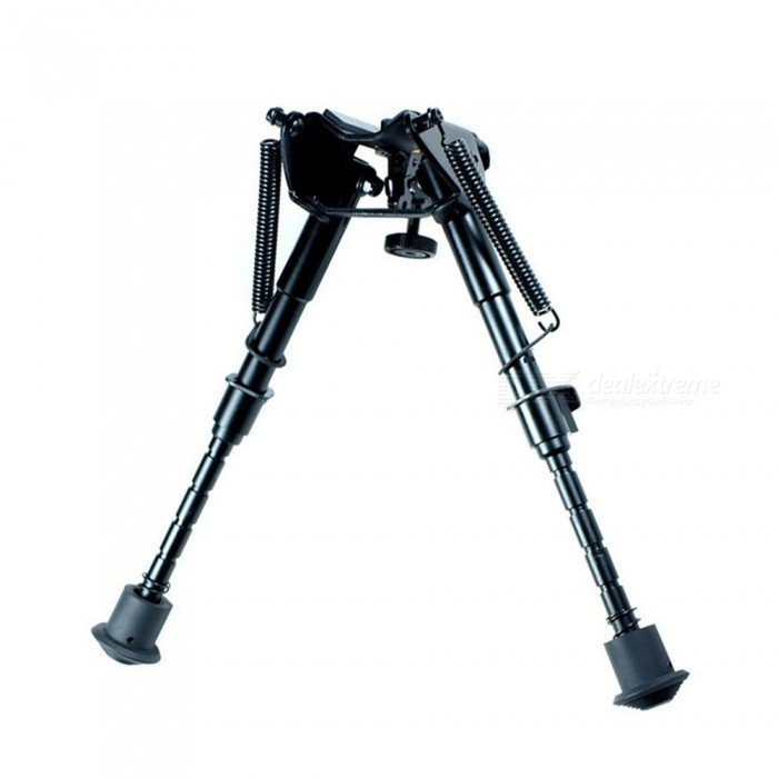 OJADE 6 Retractable Aluminum Alloy Tactical Spring Loaded Bipod Rifle Stand for M4 / M16Gun Scopes &amp; Sights<br>Form  ColorBlackMaterialAluminum AlloyQuantity1 setLaser Wavelength0Laser ColorOthers,NoPacking List1 x Rifle Stand<br>