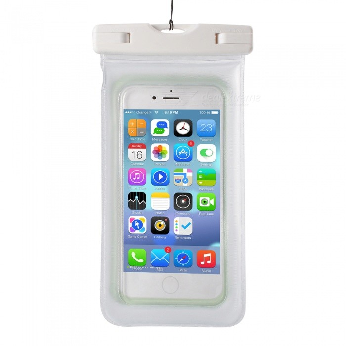 IPX8 Waterproof PVC ABS Bag Pouch with Arm Band for IPHONE X / IPHONE 6 PLUS / 6S PLUS / 7 PLUS / 8 PLUS - WhiteWaterproof Cases<br>Form  ColorWhiteQuantity1 pieceMaterialPVC+ABSWaterproof LevelIPX8Compatible ModelsIPHONE 6 Plus / 6S Plus / 7 Plus / 8 Plus/ iPhone X and other cellphones 5.5~6Touch Control via CaseYesSuitable forCamping,Boating,Fishing,Diving,Swimming,Skiing,Rainy DaysPacking List1 x Bag1 x Strap (40cm)1 x Arm band (35cm)<br>