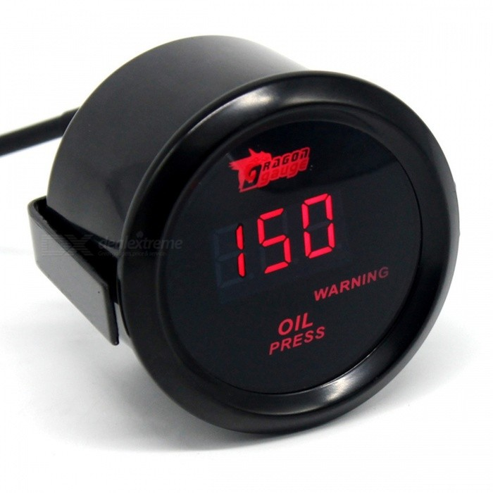 IZTOSS B2935 52mm 120 PSI Digital Oil Pressure Gauge with Red LED Display for Car Modified UseOther Gadgets<br>Form  ColorOil Pressure GaugeModelB2935Quantity1 setMaterialMetal + plasticShade Of ColorBlackCurrent0.3 APower Supply12VPacking List1 x 52mm 120 PSI Digital Red LED Oil Pressure Gauge1 x Oil Pressure Sensor1 x English Manual<br>