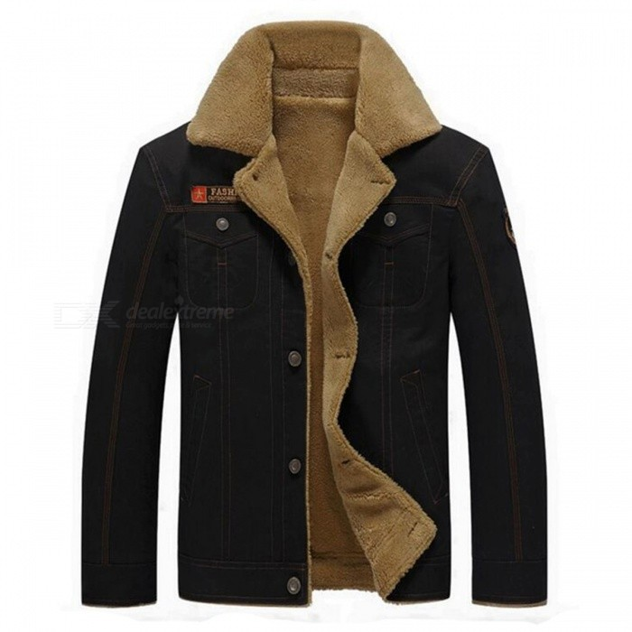CTSmart YM608 Mens Fashion Long Sleeves Warm Jacket Coat for Autumn Winter - Black (L)Jackets and Coats<br>Form  ColorBlackSizeLModelYM608Quantity1 DX.PCM.Model.AttributeModel.UnitShade Of ColorBlackMaterialCotton blend and polyesterStyleFashionTop FlyZipperShoulder Width46.5 DX.PCM.Model.AttributeModel.UnitChest Girth55 DX.PCM.Model.AttributeModel.UnitWaist Girth55 DX.PCM.Model.AttributeModel.UnitSleeve Length62.5 DX.PCM.Model.AttributeModel.UnitTotal Length68 DX.PCM.Model.AttributeModel.UnitSuitable for Height170 DX.PCM.Model.AttributeModel.UnitPacking List1 x Coat<br>