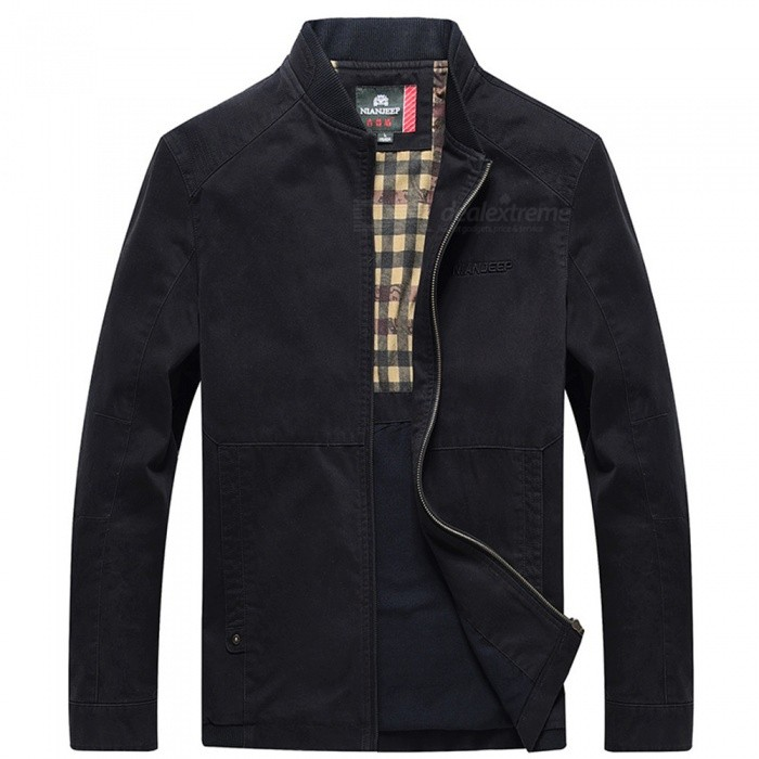 99766 Outdoor Fashion Chic Mens Zipper Cotton Jacket Coat for Spring Autumn Winter - Black (2XL)Jackets and Coats<br>Form  ColorBlackSizeXXLModel99766Quantity1 pieceShade Of ColorBlackMaterialCotton and polyesterStyleFashionTop FlyZipperShoulder Width51 cmChest Girth124 cmWaist Girth124 cmSleeve Length64 cmTotal Length73 cmSuitable for Height180 cmPacking List1 x Coat<br>