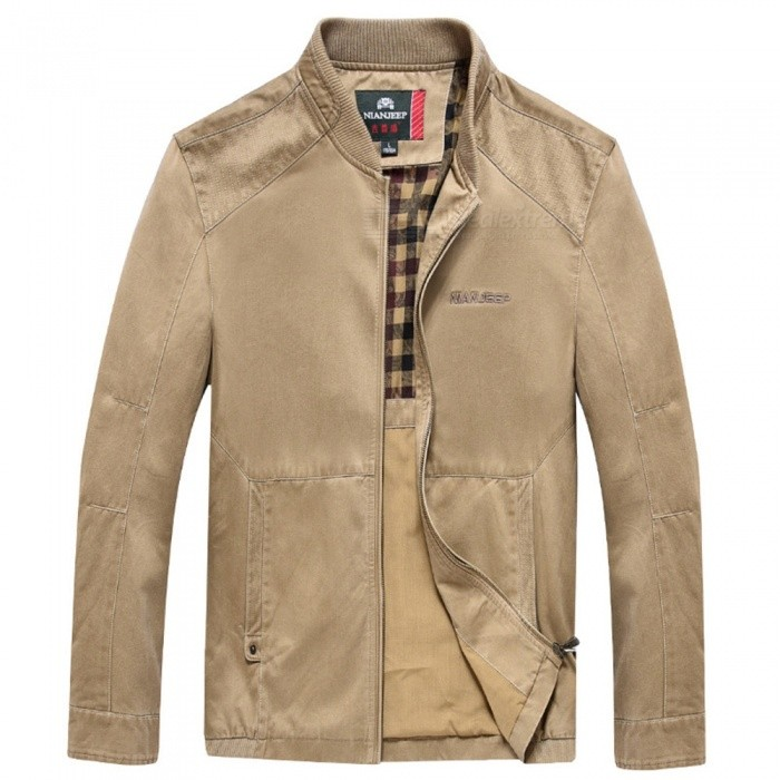 99766 Outdoor Fashion Chic Mens Zipper Cotton Jacket Coat for Spring Autumn Winter - Khaki (L)Jackets and Coats<br>Form  ColorKhakiSizeLModel99766Quantity1 DX.PCM.Model.AttributeModel.UnitShade Of ColorBrownMaterialCotton and polyesterStyleFashionTop FlyZipperShoulder Width48 DX.PCM.Model.AttributeModel.UnitChest Girth116 DX.PCM.Model.AttributeModel.UnitWaist Girth116 DX.PCM.Model.AttributeModel.UnitSleeve Length61 DX.PCM.Model.AttributeModel.UnitTotal Length69 DX.PCM.Model.AttributeModel.UnitSuitable for Height170 DX.PCM.Model.AttributeModel.UnitPacking List1 x Coat<br>