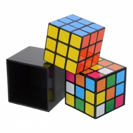 Portable Premium 3x3x3 Rubik's Magic Cube, Puzzle Toy for Kids, Adults - Black