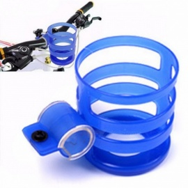 Cycling Bike MTB Bicycle Handlebar Water Bottle Holder Plastic Adjustable Bike Drinking Bottle Holder Bracket Rack Cage Blue