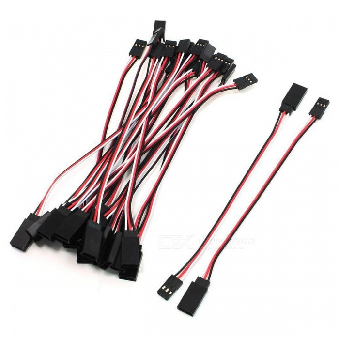YENISEI 3 Pin Male to Female RC Servo Extension Cord Cable (15cm / 10 PCS)DIY Parts &amp; Components<br>Form  ColorRed + Black + White (15cm / 10 PCS)Quantity10 piecesMaterialPlastic, MetalEnglish Manual / SpecNoDownload Link   NOOther Features3 PinCertificationROHSPacking List10 x RC Servo Extension Lead Wires<br>