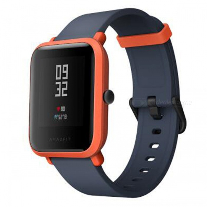 Xiaomi Huami Amazfit Bip BIT PACE Lite Youth Version Smart Watch - Orange (English Edition)Smart Watches<br>Form  ColorOrangeModelA1608Quantity1 setMaterialPlastic cementShade Of ColorOrangeCPU ProcessornoScreen Size1.28 inchScreen Resolution0Touch Screen TypeYesBluetooth VersionBluetooth V4.0Compatible OSAndroid4.4ios8.0ios9.0ios10ios11LanguageEnglishWristband Length19.5 cmWater-proofIP68Battery ModeNon-removableBattery Capacity200 mAhStandby Time69 hoursForm  ColorOrangePacking List1 x Watch1 x Recharge stand 1 x User Manual (Chinese)<br>