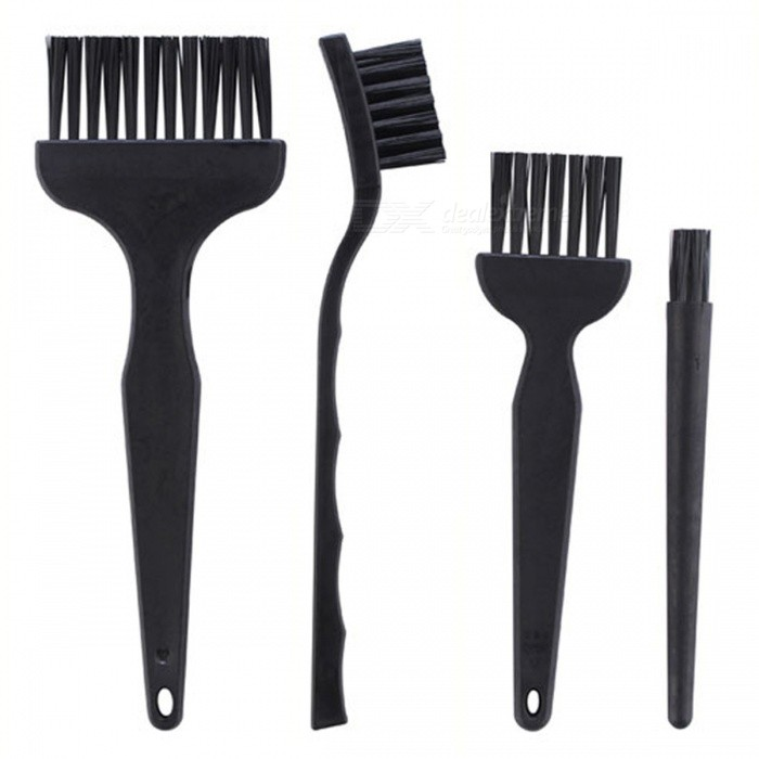 OJADE 4Pcs Anti-Static Brushes Set, Cleaning Tool Kit for Cell Phone Tablet PCB BGA MaintenanceOther Tools<br>Form  ColorBlackQuantity1 setMaterialABSPacking List1 x Tool Kit<br>