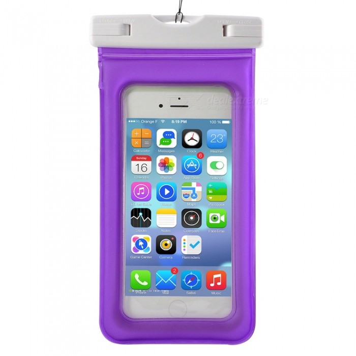 Waterproof PVC ABS Bag Pouch with Arm Band for IPHONE X / IPHONE 6 PLUS / 6S PLUS / 7 PLUS / 8 PLUS - PurpleWaterproof Cases<br>Form  ColorPurpleQuantity1 pieceMaterialPVC+ABSWaterproof LevelIPX8Compatible ModelsIPHONE 6 Plus / 6S Plus / 7 Plus / 8 Plus/ iPhone X and other cellphones 5.5~6Touch Control via CaseYesSuitable forCamping,Boating,Fishing,Diving,Swimming,Skiing,Rainy DaysPacking List1 x Bag1 x Strap (40cm)1 x Arm band (35cm)<br>