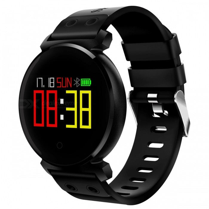 K2 IP68 Waterproof 0.95 OLED Color Screen Smart Bracelet with Oxygen Detection, Blood Pressure Monitor - BlackSmart Bracelets<br>Form  ColorBlackQuantity1 setMaterialABSShade Of ColorBlackWater-proofIP68Bluetooth VersionBluetooth V4.0Touch Screen TypeYesCompatible OSAndroid system 4.4 version or above ;iOS system 8.0 version or above ;Support  bluetooth with 4.0 versionBattery Capacity200 mAhBattery TypeLi-polymer batteryStandby Time10-15 daysForm  ColorBlackPacking List1 x Smart Bracelet1 x User Manual 1 x USB Charger<br>