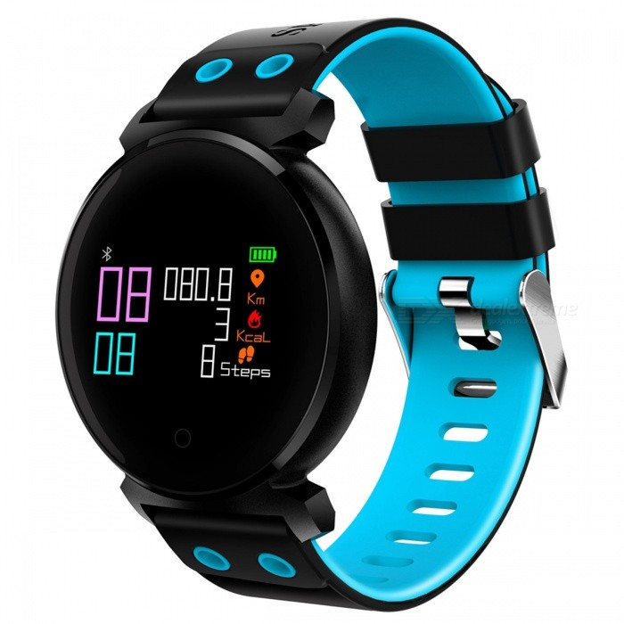 K2 IP68 Waterproof 0.95 OLED Color Screen Smart Bracelet with Oxygen Detection, Blood Pressure Monitor - BlueSmart Bracelets<br>Form  ColorBlue + Black + Multi-ColoredQuantity1 DX.PCM.Model.AttributeModel.UnitMaterialABSShade Of ColorBlueWater-proofIP68Bluetooth VersionBluetooth V4.0Touch Screen TypeYesCompatible OSAndroid system 4.4 version or above ;iOS system 8.0 version or above ;Support  bluetooth with 4.0 versionBattery Capacity200 DX.PCM.Model.AttributeModel.UnitBattery TypeLi-polymer batteryStandby Time10-15 DX.PCM.Model.AttributeModel.UnitForm  ColorBlue + Black + Multi-ColoredPacking List1 x Smart Bracelet1 x User Manual 1 x USB Charger<br>