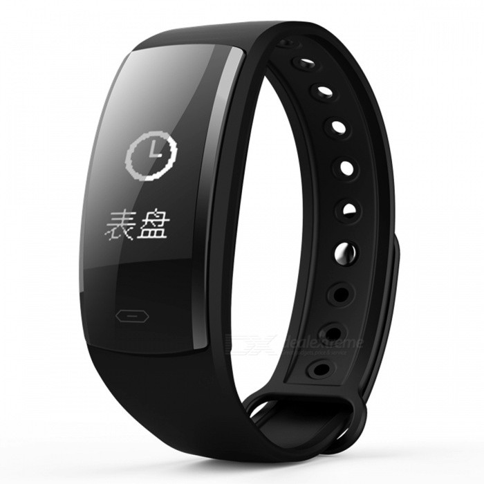 QS90 Bluetooth Smart Bracelet with Heart Rate Monitor, Blood Pressure Monitor, Fitness Pedometer - BlackSmart Bracelets<br>Form  ColorBlackQuantity1 setMaterialABSShade Of ColorBlackWater-proofIP67Bluetooth VersionBluetooth V4.0Touch Screen TypeYesCompatible OSAndroid compatibility 4.4 / iOS 9.0 and above systemsBattery Capacity70 mAhBattery TypeLi-polymer batteryStandby Time5-7 daysPacking List1 x Smart Bracelet1 x User Manual1 x Charging Cable<br>