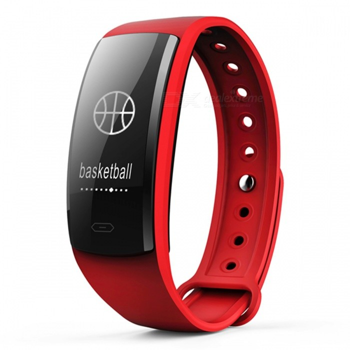 QS90 Bluetooth Smart Bracelet with Heart Rate Monitor, Blood Pressure Monitor, Fitness Pedometer - RedSmart Bracelets<br>Form  ColorRed + BlackQuantity1 DX.PCM.Model.AttributeModel.UnitMaterialABSShade Of ColorRedWater-proofIP67Bluetooth VersionBluetooth V4.0Touch Screen TypeYesCompatible OSAndroid compatibility 4.4 / iOS 9.0 and above systemsBattery Capacity70 DX.PCM.Model.AttributeModel.UnitBattery TypeLi-polymer batteryStandby Time5-7 DX.PCM.Model.AttributeModel.UnitPacking List1 x Smart Bracelet1 x User Manual1 x Charging Cable<br>