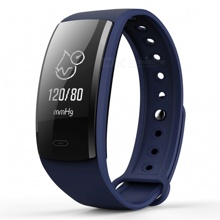 QS90 Bluetooth Smart Bracelet with Heart Rate Monitor, Blood Pressure Monitor, Fitness Pedometer - BlueSmart Bracelets<br>Form  ColorBlue + BlackQuantity1 setMaterialABSShade Of ColorBlueWater-proofIP67Bluetooth VersionBluetooth V4.0Touch Screen TypeYesCompatible OSAndroid compatibility 4.4 / iOS 9.0 and above systemsBattery Capacity70 mAhBattery TypeLi-polymer batteryStandby Time5-7 daysPacking List1 x Smart Bracelet1 x User Manual1 x Charging Cable<br>