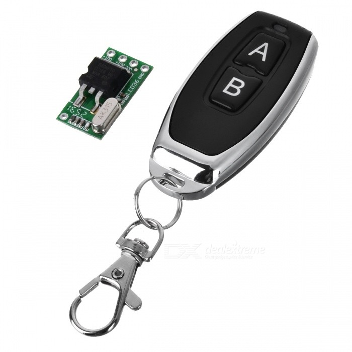 DC 7-36V 433MHZ Mini DC Lithium Battery Powered Remote Control Switch w/ Keychain for LED LampTransmitters &amp; Receivers Module<br>Form  ColorBlack + Mirror SilverModelLZ-36Quantity1 DX.PCM.Model.AttributeModel.UnitMaterialABS-PCBFrequency433MHZWorking Voltage   7-36 DX.PCM.Model.AttributeModel.UnitWorking Current6 DX.PCM.Model.AttributeModel.UnitEffective Range50-150mEnglish Manual / SpecNoDownload Link   http://a3.qpic.cn/psb?/V110RK7y0wIonC/7dCItj5*HnkdukdJ9kucY8p4DKPZmeUyZ7tzvzVhHU8!/b/dPIAAAAAAAAA&amp;bo=gQOAAgAAAAARBzA!&amp;rf=viewer_4Packing List1 x Controller (2016 battery 2)1 x Module<br>