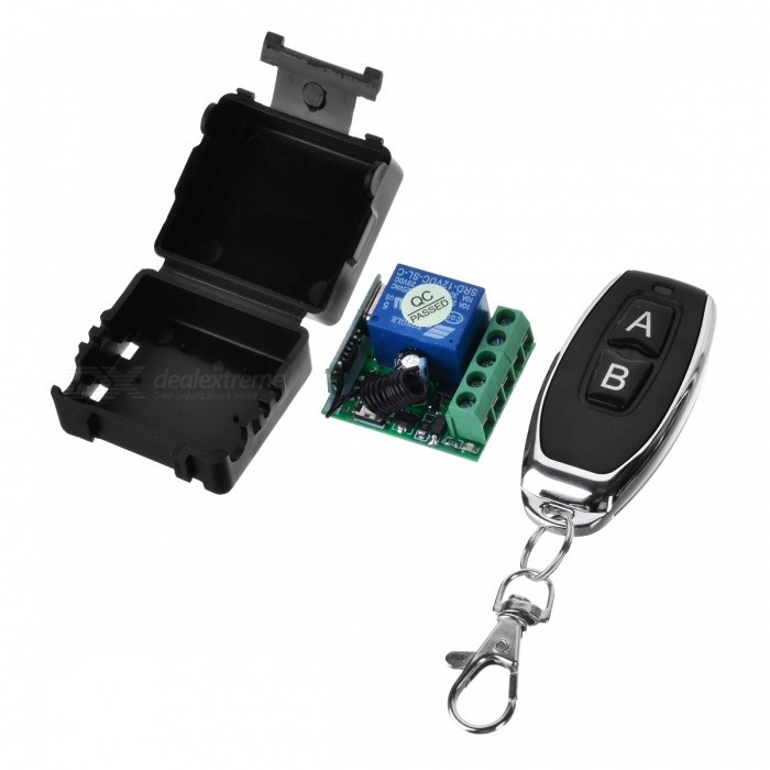 LZ-88 DC12V 433MHZ Wide Voltage AC / DC Single Remote Switch for Lamp, Garage Door, Window, Lifting Equipment, Motor ControlTransmitters &amp; Receivers Module<br>Form  ColorBlack + WhiteModelLZ-88Quantity1 DX.PCM.Model.AttributeModel.UnitMaterialABS+PCSFrequency433MHZWorking Voltage   DC12 DX.PCM.Model.AttributeModel.UnitWorking Current5 DX.PCM.Model.AttributeModel.UnitEffective Range50-100mEnglish Manual / SpecNoDownload Link   http://a4.qpic.cn/psb?/V110RK7y4adZoz/HAgaS7o2ACzl2YYzarqETAv*0q7CT92TR2nr7fvrp.A!/m/dPMAAAAAAAAAnull&amp;bo=xwFnAQAAAAADB4I!&amp;rf=photolist&amp;t=5Packing List1 x Remote control (2016 battery 2)1 x Relay<br>