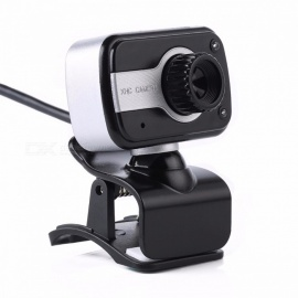 360 graden rotatie USB webcam, 12MP HD clip-on webcamcamera met microfoon MIC voor computer laptop pc zwart