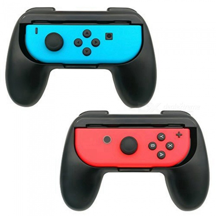 Miimall Nintendo Switch Joy-Con Arms, 2-Pack Game Controller Handle Kit for Nintendo Switch Joy-ConOther Consoles Accessories<br>Form  ColorBlackModelTNS-851BQuantity1 setMaterialABSShade Of ColorBlackCompatible BrandNintendoCompatible ModelsNintendo SwitchCertificationCEPacking List2 x Nintendo Switch Joy-Con Grips<br>
