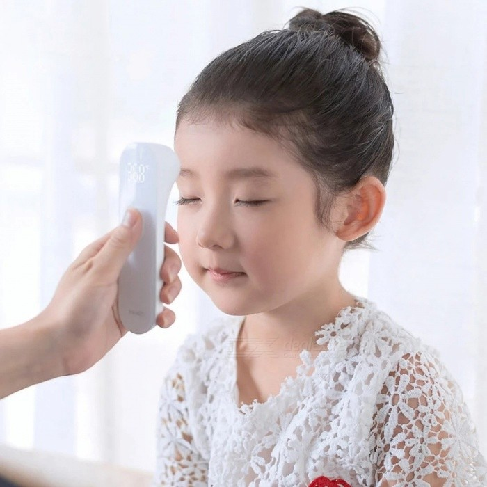 Xiaomi Mijia iHealth Digital Infrared Thermometer with LED Display for Baby Kids, Adults - WhiteBody Thermometers<br>Form  ColorWhiteModelFDIR - V14MaterialPCQuantity1 setShade Of ColorWhiteDisplay25.7mm ? 19.1mmDetection Range32°C - 42.9°CTemperature Display32°C - 42.9°CPower SupplyAAAPacking List1 x Thermometer2 x AAA Batteries1 x Manual (Simplified Chinese)<br>