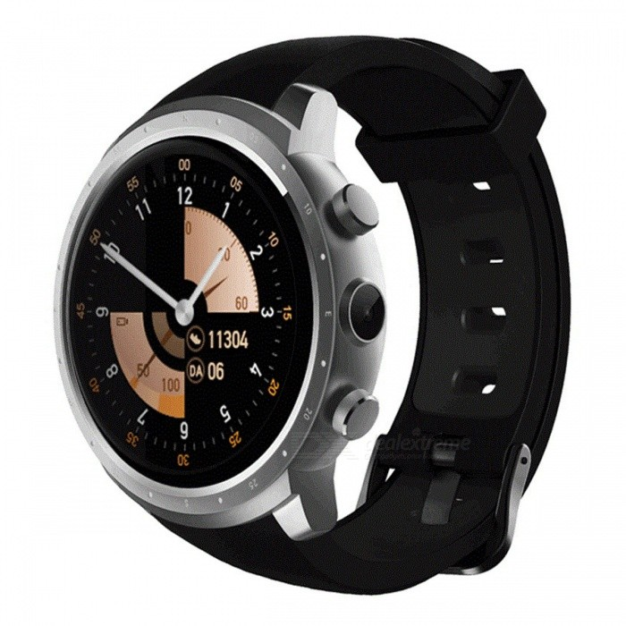 """Z18 Android 5.1 1.3"""" Round Screen Wi-Fi Bluetooth Smart Watch w/ Heart Rate Monitor, GPS, 512MB RAM + 8GB ROM - Silver"""