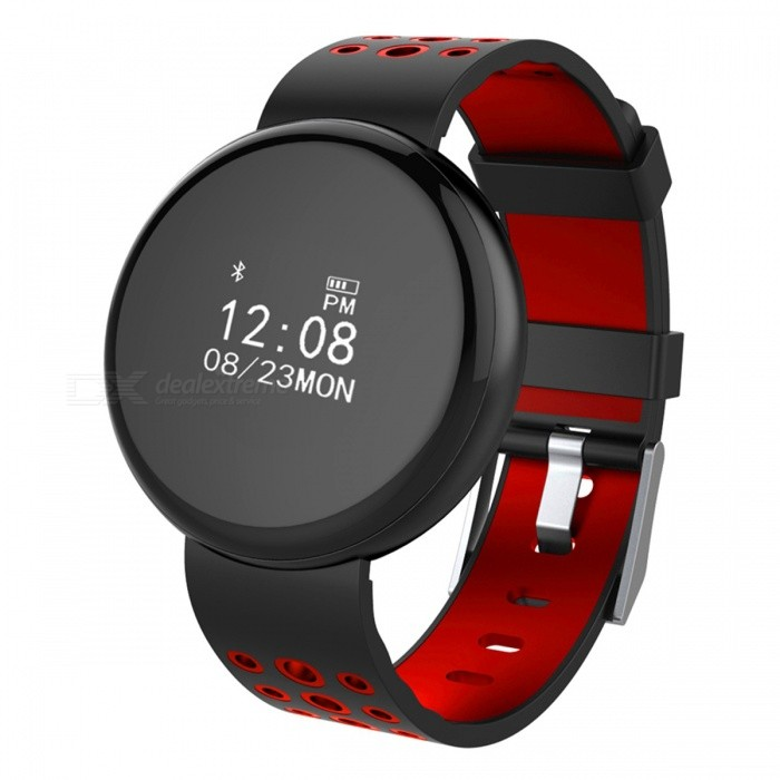 I8 Waterproof IP68 0.66 OLED Round Screen Bluetooth Smart Watch with Heart Rate Monitor, Pedometer - RedSmart Bracelets<br>Form  ColorRed + MulticoloredQuantity1 DX.PCM.Model.AttributeModel.UnitMaterialABSShade Of ColorRedWater-proofIP68Bluetooth VersionBluetooth V4.0Touch Screen TypeYesCompatible OSBluetooth V4.0 (Android and IOS)Battery Capacity70 DX.PCM.Model.AttributeModel.UnitBattery TypeLi-polymer batteryStandby Time20 DX.PCM.Model.AttributeModel.UnitPacking List1 x Smart Watch1 x Charging Cable 1 x User Manual<br>