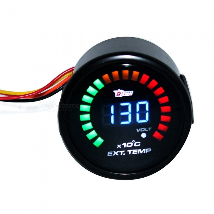 IZTOSS B2936 12V 2 52mm Diameter Temperature Gauge for Car ModificationOther Gadgets<br>Form  ColorBlackModelB2936Quantity1 DX.PCM.Model.AttributeModel.UnitMaterialPlastic + metalShade Of ColorBlackCurrent0.3 DX.PCM.Model.AttributeModel.UnitPower Supply12VPacking List1 x Temperature table<br>