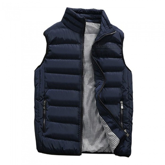 Mens Autumn Winter Warm Sleeveless Jacket Waistcoat Vest Fashion Casual Coat - Blue (5XL)Jackets and Coats<br>Form  ColorBlueSize5XLQuantity1 pieceShade Of ColorBlueMaterialPolyesterStyleCasualTop FlyZipperShoulder Width51 cmChest Girth124 cmSleeve Length0 cmTotal Length72 cmSuitable for Height190-195 cmPacking List1 x Vest Coats<br>