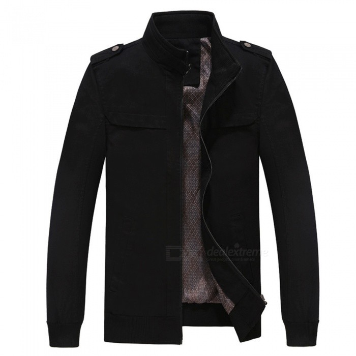 7715 Outdoor Mens Stylish Slim Cotton Jacket Coat - Black (L)Jackets and Coats<br>Form  ColorBlackSizeLModel7715Quantity1 DX.PCM.Model.AttributeModel.UnitShade Of ColorBlackMaterialSurface and polyesterStyleFashionTop FlyZipperShoulder Width46.5 DX.PCM.Model.AttributeModel.UnitChest Girth110 DX.PCM.Model.AttributeModel.UnitWaist Girth110 DX.PCM.Model.AttributeModel.UnitSleeve Length62.5 DX.PCM.Model.AttributeModel.UnitTotal Length67 DX.PCM.Model.AttributeModel.UnitSuitable for Height175 DX.PCM.Model.AttributeModel.UnitPacking List1 x Coat<br>