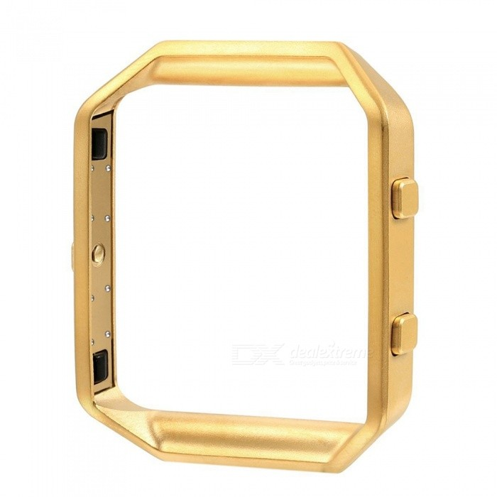 Miimall Stainless Steel Replacement Metal Frame Housing for Fitbit Blaze Smart Watch - GoldenWearable Device Accessories<br>Form  ColorGoldenModelFibit Blaze FrameQuantity1 DX.PCM.Model.AttributeModel.UnitMaterialStainless SteelPacking List1 x Fitbit Blaze Smart Watch Frame (Gold)<br>
