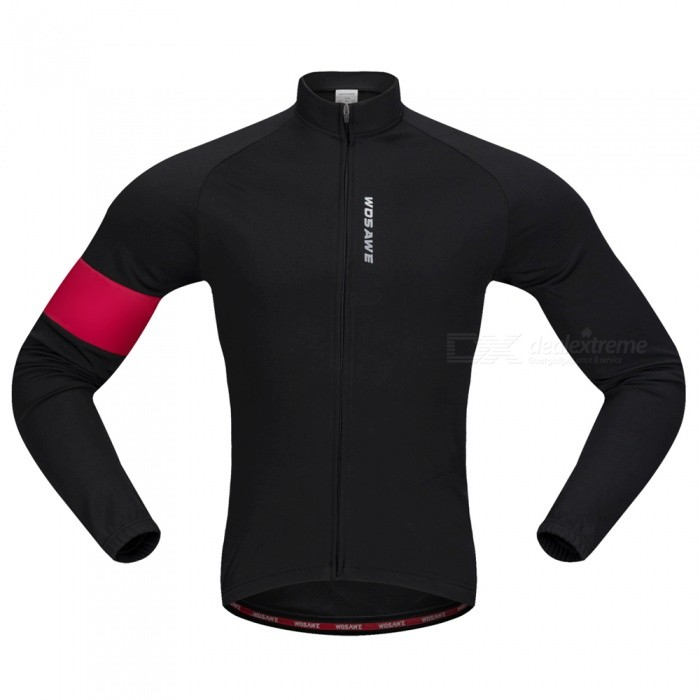 BC204 Unisex Long Sleeves Cycling Jersey Warm Bike Jersey Stretchy Polyester Fleece Jacket - Black (M)Form  ColorBlackSizeMModelBC204Quantity1 pieceMaterial100% POLYESTERGenderUnisexSeasonsAutumn and WinterShoulder Width14 cmChest Girth96-102 cmSleeve Length55.5 cmWaist0 cmTotal Length0 cmSuitable for Height165-170 cmBest UseCycling,Mountain Cycling,Road CyclingSuitable forAdultsTypeLong JerseysPacking List1 x Cycling Jacket<br>