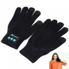 Flexible Retractable Bluetooth V4.2 + EDR Touch Screen Gloves with Mic, Supports Phone Call - Black
