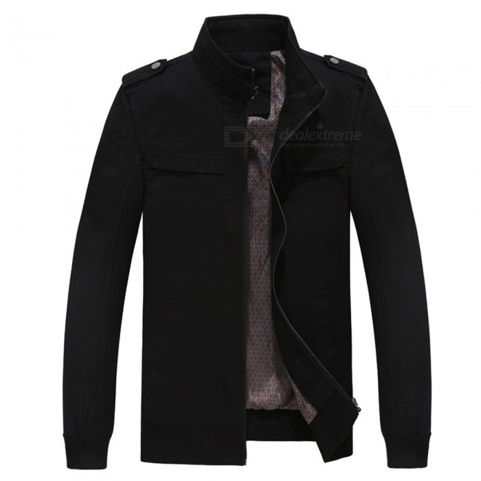 7715 Outdoor Mens Stylish Slim Cotton Jacket Coat - Black (2XL)Jackets and Coats<br>Form  ColorBlackSizeXXLModel7715Quantity1 DX.PCM.Model.AttributeModel.UnitShade Of ColorBlackMaterialSurface and polyesterStyleFashionTop FlyZipperShoulder Width49.5 DX.PCM.Model.AttributeModel.UnitChest Girth118 DX.PCM.Model.AttributeModel.UnitWaist Girth118 DX.PCM.Model.AttributeModel.UnitSleeve Length65.5 DX.PCM.Model.AttributeModel.UnitTotal Length71 DX.PCM.Model.AttributeModel.UnitSuitable for Height185 DX.PCM.Model.AttributeModel.UnitPacking List1 x Coat<br>
