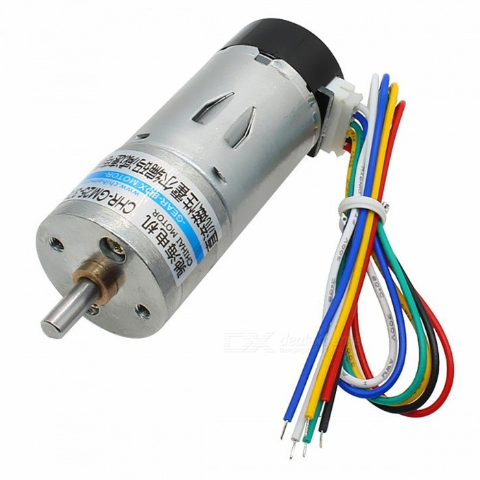 chihaimotor CHR-GM25-370-ABHL DC 6V / 12V Magnetic Holzer Encoder Gear Motor with Protective ShellMotors<br>Form  ColorBlack + Silver + Multi-ColoredModelCHR-GM25-370-ABHLQuantity1 pieceMaterialABS + zinc alloy + steel + copper + nylonRate Voltage12VPower Range3V~12VInput VoltageDC12.0 VRevolutions Per Minute (RPM)600RPMWorking Current0.2 AWorking Temperature-20+60 ?English Manual / SpecNoDownload Link   NoCertificationNoOther FeaturesNoPacking List1 x Motor1 x Motor wiring<br>