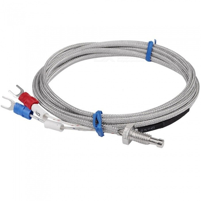 Thread M6 Screw Probe Temperature Sensor Thermocouple K Type Measuring 0-400 Degree 2m Cable for PID ControllerDIY Parts &amp; Components<br>Form  ColorWhiteQuantity1 DX.PCM.Model.AttributeModel.UnitMaterialIron, plasticEnglish Manual / SpecNoCertification-Packing List 1 x Thermocouple<br>