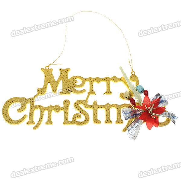 Festive Christmas Decoration - Merry Christmas Letters Board with Strap (6-Pack)