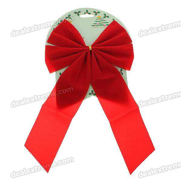 Festive Christmas Decoration - Bowties (6-Pack)