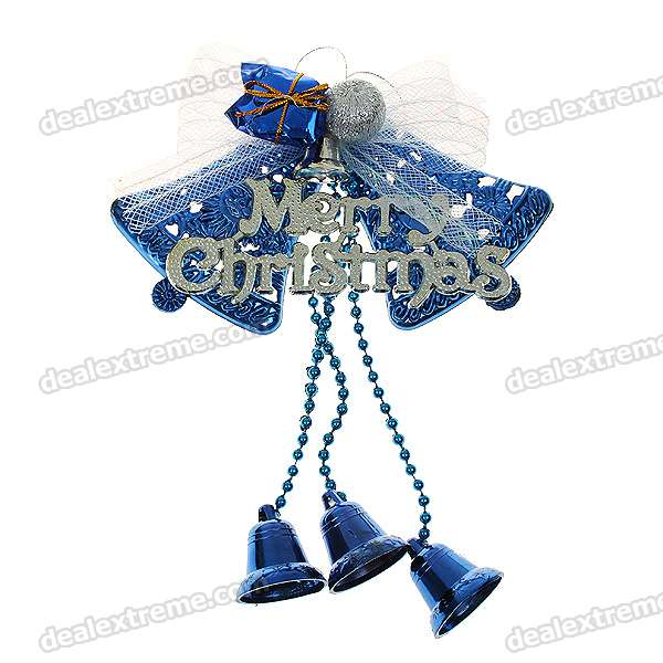 Festive Christmas Decoration - Beautiful Blue Bells (6-Pack)